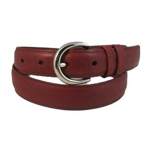 """Coach Smooth Red Leather 1"""" Wide Belt 8504 Size M"""